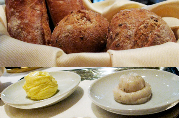 Dinner at Del Posto — Breads and spreads
